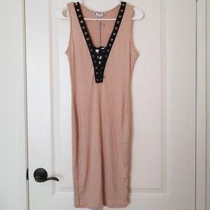 Dresses & Skirts - Black Nude Dress